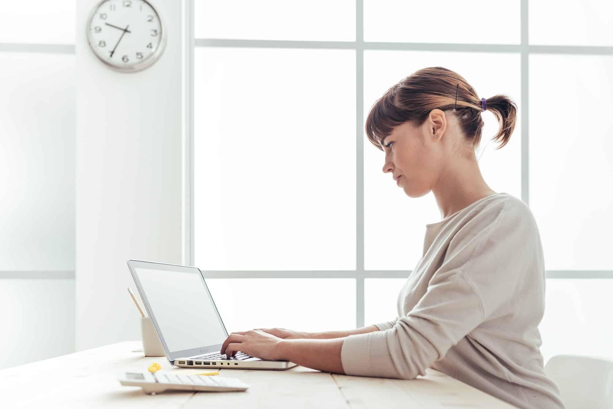 Efficient businesswoman at work