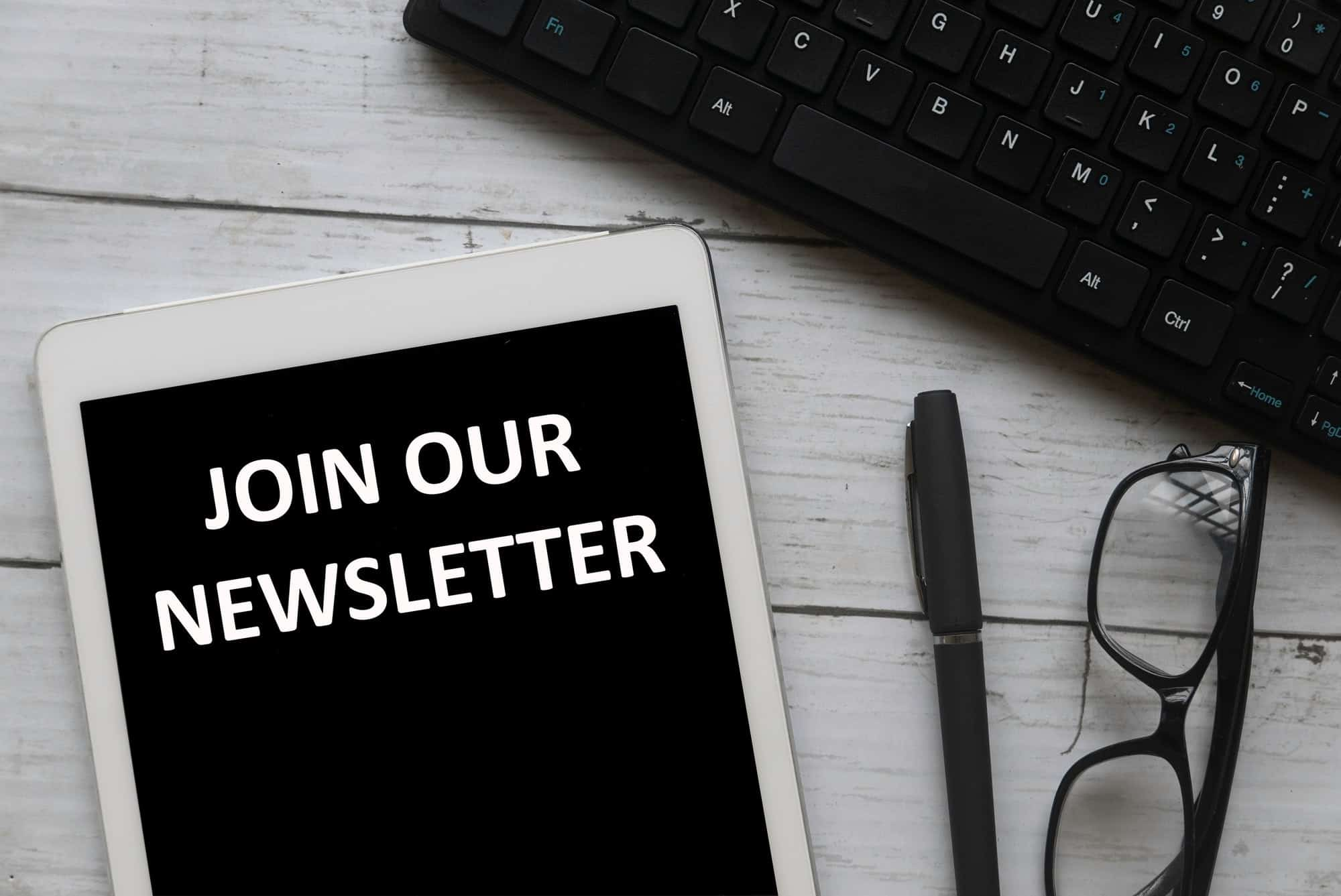 Join our newsletter concept