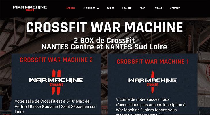 Projet CrossFit® War Machine par Web Avalanche