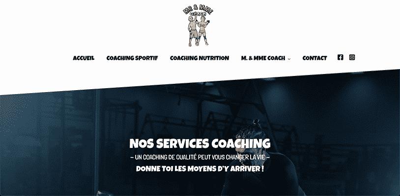 Projet Monsieur et Madame Coach par Web Avalanche